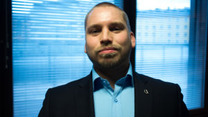 Jimmy Nylund, styrelsemedlem i Finlands studentkårers förbund med ansvar för hälsovårdsfrågor.