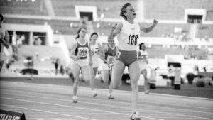 Riitta Salin vinner EM-guld, Rom 1974.