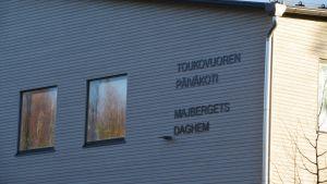 Det halvfärdiga Majbergets daghem i Borgå.