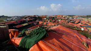 Stort flyktingläger i Bangladesh.