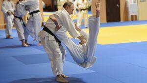 President Putin deltar i en judoträning i Sotji 2016