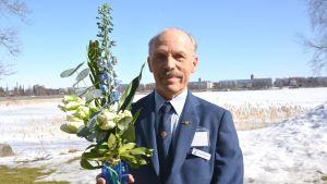 Henrik Fågerlbärj i Vasa har jobbat som turistguide i 50 år.
