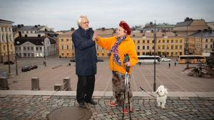 Pentti Arajärvi och Sirpa Asko-Seljavaara.