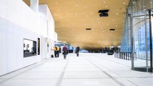 Första våningen i Helsingfors centrumbibliotek Ode