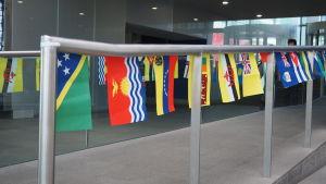 Flaggor på universitetet Imperial College London
