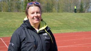 Gymnastiklärare Gunilla Nyström.