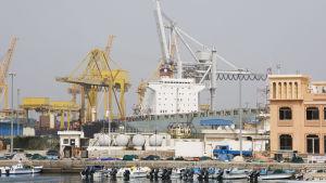 Arkivbild från hamnen i Fujairah, Förenade Arabemiraten. Bilden tagen 2010.
