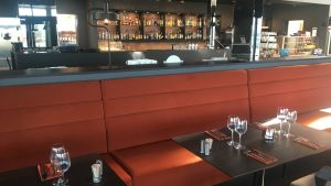Dukat bord på Restaurang GH Fyren i Ekenäs.