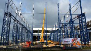 Bild från en byggarbetsplats.