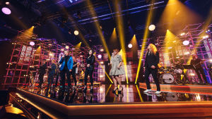 Pepe Willberg, Diandra, Irina ja Jarkko Ahola esiintyvät Elämäni Biisi -lavalla.