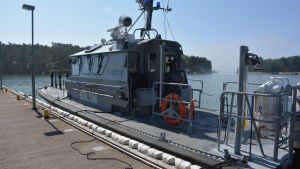 Gränsbevakningens fartyg vid Porkala udds station.