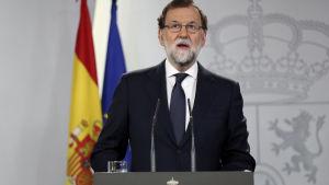 Mariano Rajoy håller tal 20.9.2017.