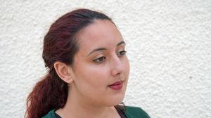 """Den tunisiska feministaktivisten """"Ghaya""""."""