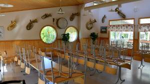 Kafeterian på Dansholmen i Tolkis