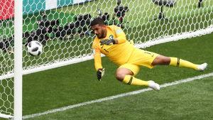 Adullah Al-Mayouf släpper in ett mål.