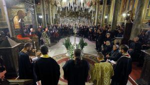 Begravningsceremonin hölls i den ortodoxa katedralen i Rusen