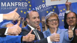 Manfred Weber gör tummen upp.