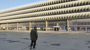 Den brutalistiska busstationen i Preston