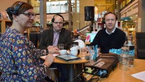 Anneli Pahta, Lars Nummelin och Stefan Långström.