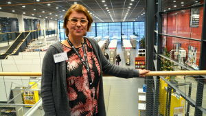 Malin Hollmén, chef för bibliotekstjänster i Borgå.
