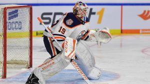 Mikko Koskinen i Edmontons mål