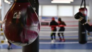 Boxningsträning.