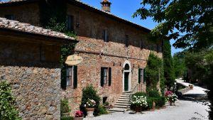 Huvudbyggnaden på Fattoria del Colle, en av Donatella Cinelli Colombinis två vingårdar med anor till 1500-talet