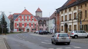 Rådhuset i centrum av staden Vilseck