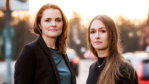 Journalisterna Malin Oloffson och Anna Nordbeck står bakom dokumentärserien Vaccinkrigarna.