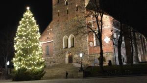 Julgranen vid Åbo Domkyrka 2018.