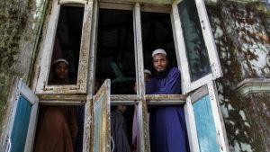 Rohingyas i byn Thet Kel Pyin i Rakhine.