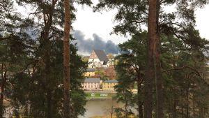 röutveckling på grund av brand i borgå 24.10.16