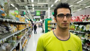 Mojtaba Toof, asylsökande praoelev i Kyrkslätts Prisma.