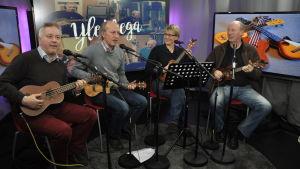 Grankulla Ukulele Sällskap gästar Vår Musik i Yle Vega