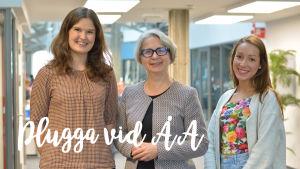 Greta Wistbacka, Pirkko Rautakoski och Christel Merilä