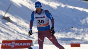 Jevgenij Belov i Davos-spåret i december 2016.