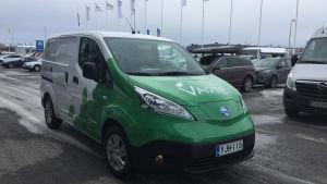 Elbil som Centria lånar ut till företag inom ramen för projektet Vaste.