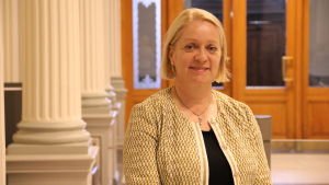 Marja Nykänen är medlem av Finlands Banks direktion, ansvarar för finansiell stabilitet och är ordförande för finansinspektionens styrelse.