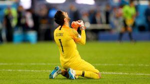 Målvakten Hugo Lloris och hans Frankrike är klart för VM-final.