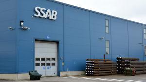 SSAB:s fabrik i Lappvik i Hangö.