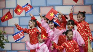 """Kim Jong-Un väntas besöka detta """"vänskapsdaghem"""" i Hanoi under sitt besök i Vietnam som avslutas på lördagen"""