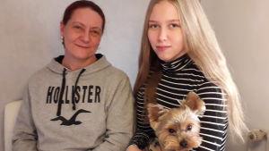 Marice Haldin-Granith och dottern Evelina Haldin.