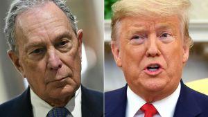 Michael Bloomberg och Donald Trump