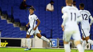 Reece James firar ett mål.