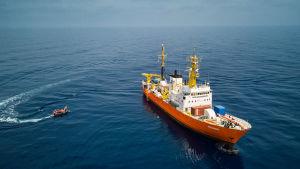 Franska flyktingfartyget Aquarius.