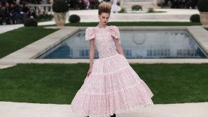 Modell på Chanels visning i januari 2019.
