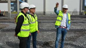 Petteri Saarinen WasaCon, Patrik Nygård och Per-Åke Fant.