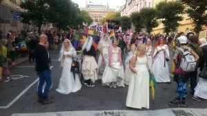 Deltagare i Åbo Pride 2014.