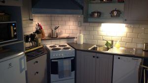 Köket i det restaurerade huset vid Antkärrgården.