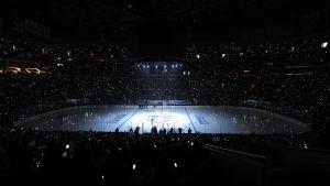 Rinken inför NHL-finalerna, juni 2014.